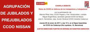 Charla Debate de la agrupación de Jubilados y Prejubilados CCOO Nissan
