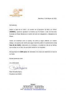 Agradecimientos de ANFANOC y FUNDACIÓN LUCIA