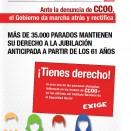ANTE LA DENUNCIA DE CCOO, EL GOBIERNO DA MARCHA ATRÁS Y RECTIFICA