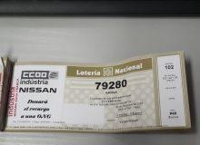 Donacion Loteria de Navidad CCOO Nissan