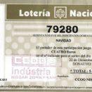 reintegro del premio de la loteria de CCOO